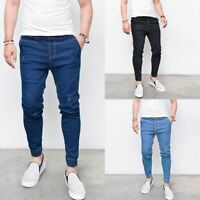 Fashion Mens Slim Fit Skinny Stretch Straight Elastic Jeans Pants Jeans Trousers