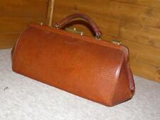 Vintage/Antique Medium English Leather Gladstone Bag - Leather Doctors Bag.