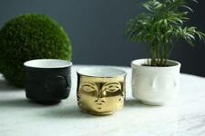 Flowers Pots With Faces On Them Creative Design Multi Face Planter Home Decor 3D