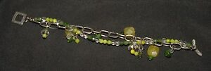 SILPADA - B1248 - Canadian Jade Olive Jade Crystal Green MOP Bead Bracelet - RET