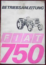 Fiat TRACTOR 750 Operating Instructions