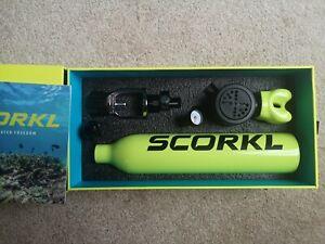 Brand New Scorkl Underwater Snorkel/Scuba Breather System With Adapters