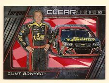 CLINT BOWYER 2016 PANINI TORQUE NASCAR RACING CLEAR VISION /49