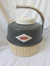 Vintage Coleman Water Cooler, 1-gallon, Metal Handle, White/Green, Clean