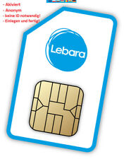 Lebara Sim NL D Netz - sofort frei - 15€ Startguthaben- Neu - Frei von Reg