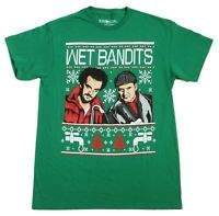 FUNNY HOME ALONE WET BANDITS CHRISTMAS SWEATER STYLE T Shirt MEDIUM NEW w TAG