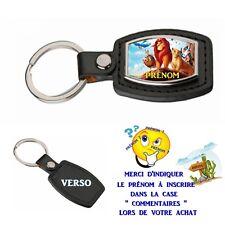 porte clé simili cuir le roi lion personnalisé avec prénom choix réf 20