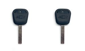 NEW OEM Keys in Factory Bag Chevy Bow Tie Logo Transponder Chip NS 23257735