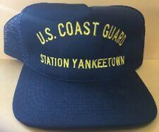 New Uscg Us Coast Guard Station Yankee Town Florida Military Hat Cap