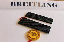 100% Genuine NEW Breitling Noir Aero Classic Rubber Deployment Strap 24-20 M