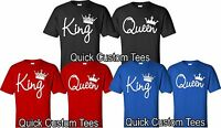 Couple Matching Love T-Shirts - King And Queen - His and Hers New Design Tees