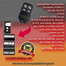 Handsender Ersatz Garagentorantriebe 433,92 MHz 84330E,84333E,84335E Funksender