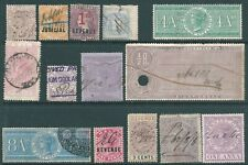 BRITISH COLONIES Queen Victoria used Fiscal/Revenue stamp collection to £1