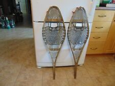 ANTIQUE    INDIAN  snowshoeS       11  x  36      nice   /#  2075