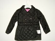Dollhouse Quilted Barn Jacket Girl 2T Filled Lined Black Outerwear Toddler