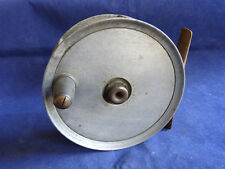 """A VINTAGE SMITH AND WALL BUILT 4 1/2"""" CENTRE DRAG GRILSE SALMON REEL"""