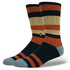 STANCE MENS SOCKS.PEMEX STRIPED NAVY GOLD ARCH SUPPORT SIZE LARGE UK 8.5 - 11.5