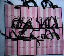 14 Victoria's Secret Gift Bags Pink Stripes Small Medium Paper Shopping Bag Lot