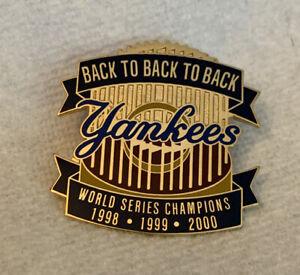 New York Yankees Champions Pin World Series Back-Back-Back MLB Baseball 1998 99