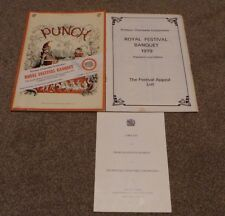 VERA LYNN HAND SIGNED AUTOGRAPH ROYAL FESTIVAL BANQUET 1979 PRINTERS CHARITABLE
