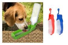Reisetrinkflasche Para Mascotas 400ml Dispensador de Agua Bebedero Botella Tazón