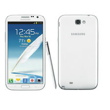 """Unlocked 5.5"""" White Samsung Galaxy Note 2 3G Android GSM Smartphone 16GB AUCH"""