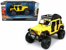MAISTO 1/24 OFF-ROAD KINGS 2015 Jeep Wrangler Unlimited DIECAST CAR 32523 Yellow