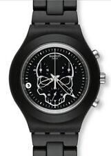 Swatch Diaphane Chrono Full Blooded Black Skull SVCF4001AG Neuware