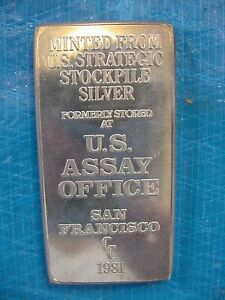 10 OUNCE SILVER BAR FROM THE US ASSAY OFFICE