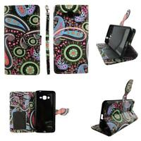 Flip Wallet Leather Case for Samsung Grand Prime G530 w Cover Cash id Slot
