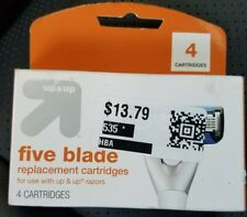 Brand New Up & Up Five Blade Replacement Cartridges - 4 Cartridges