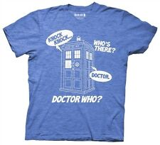 d27b94048fc Doctor Who Knock Knock Dr. Sci Fi BBC Licensed Cotton Blend Adult T Shirt