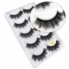 5Pcs Real 3D Mink Hair Natural Long Thick Makeup Eyelashes False Eye Lashes New