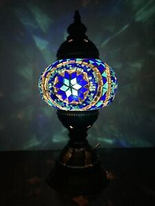 Turkish Moroccan Mosaic Lamp battery operated (2x AA) - no cable required