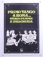 PRIMO TANGO A ROMA commedia L.Gicca Palli L.Mann Erika Blanc manifesto 1973