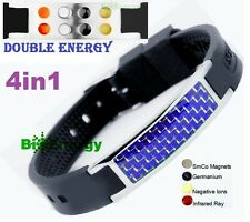 Anion Magnetic Energy Germanium Power Bracelet Health 4in1 Bio Armband BAND