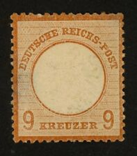 1869 Germany Stamp Scott #25 9kr red brown Unused, HR