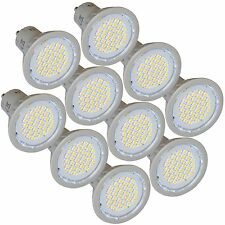 10 Energy Saving DEL gu10 3 W Light Bulbs 4200k Cool White replaces 35 W Halogène