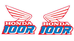 1990 HONDA XR 100 R GAS TANK DECAL SET VINTAGE MOTOCROSS AHRMA