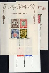 ESTONIA , 1938 , 1939 , THREE better S/S , MNH !