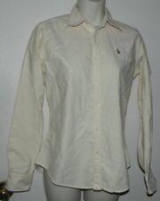 Women Ralph Lauren Slim Fit Striped Long Sleeve Casual Work Button Down Shirt 4