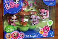 Littlest Pet Shop 2010 VERY RARE Squirrel Pet Triplets #1882 #1883 #1884 Acorns