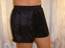 Black Poly Satin Boxer Shorts Medium