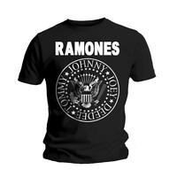 RAMONES Seal T-shirt Black NEW OFFICIAL All Sizes Hey Ho Let's Go Johnny Joey