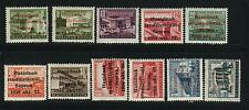 Hungary 1956 MNH SOPRON LK 1-9 ,13 , 17 Expertized Valued 1010 Euro ($ 1400.00)