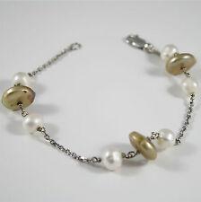 Bracciale Madreperla di Perle 3cm Gioiello Nucleo VA37