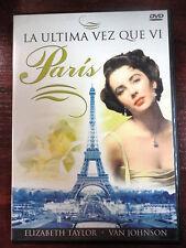 DVD La Ultima vez que vi Paris,Elizabeth Taylor & Van Johnson