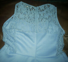 Cornflower blue lace studded skater dress size large