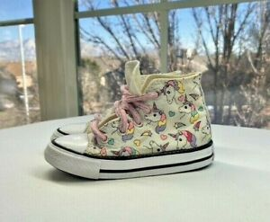 Converse All Star Baby Girl Sneakers with Unicorns Size T6