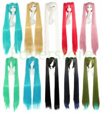 120cm Long Vocaloid Hatsune Miku Cosplay Wigs With 2 Ponytails + Wig Cap